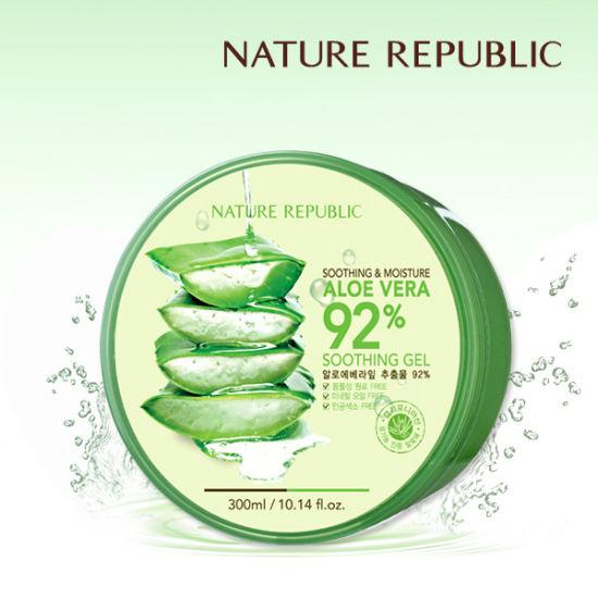 Nature Republic Aloe vera Soothing gel 92 ขนาด300ml เจลว่านหางจระเข้เอนกประสงค์