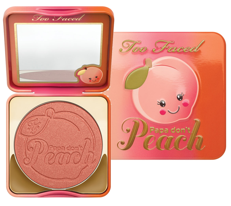 Too Faced papa don\'t peach blush  บลัชออนพีชมาในตลับกล่องเหล็กลายน่ารัก