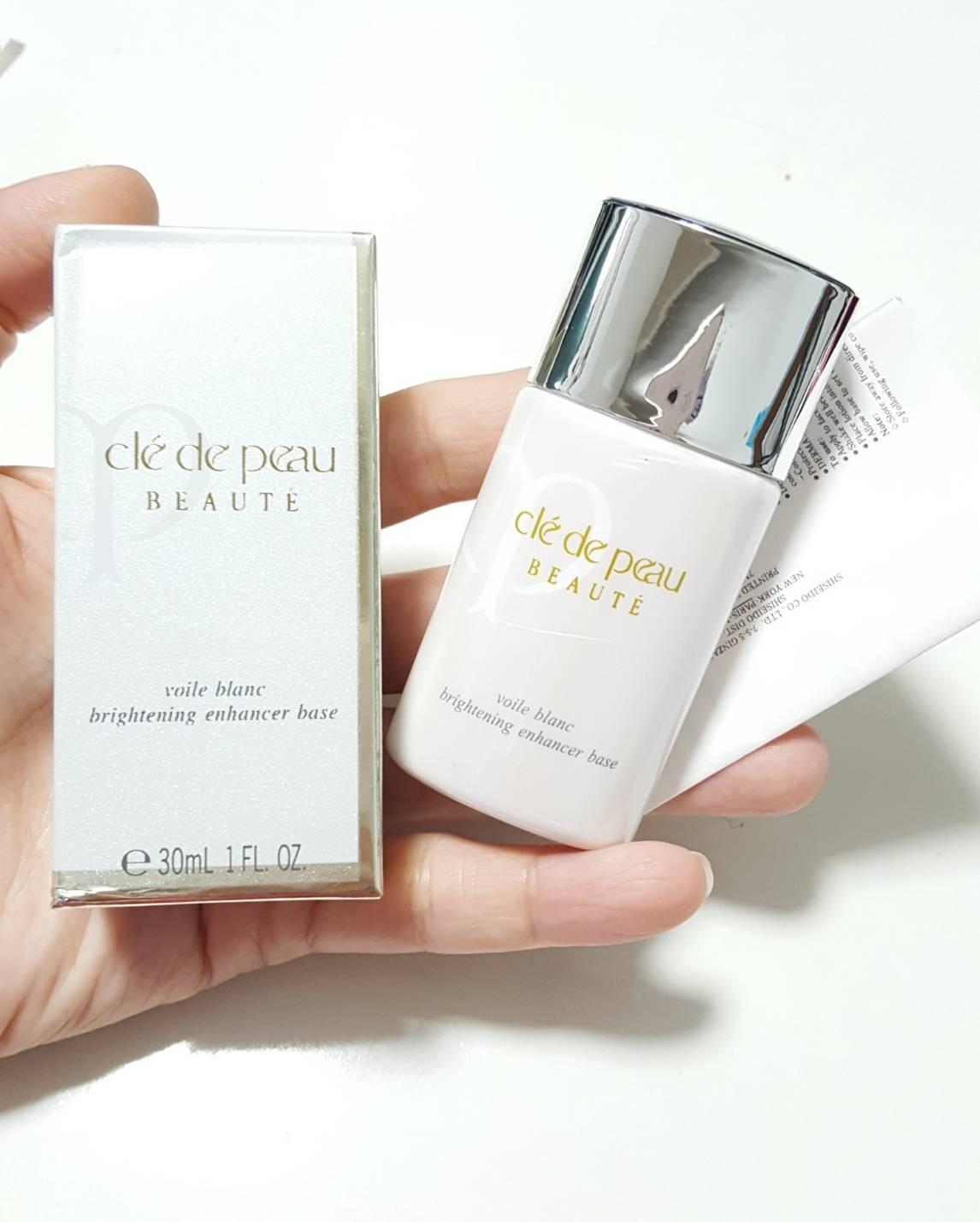 Cle De Peau Beaute voile blanc brightening enhancer base 30ml.เบสปรับผิว ถ่ายจากสินค้าจริง