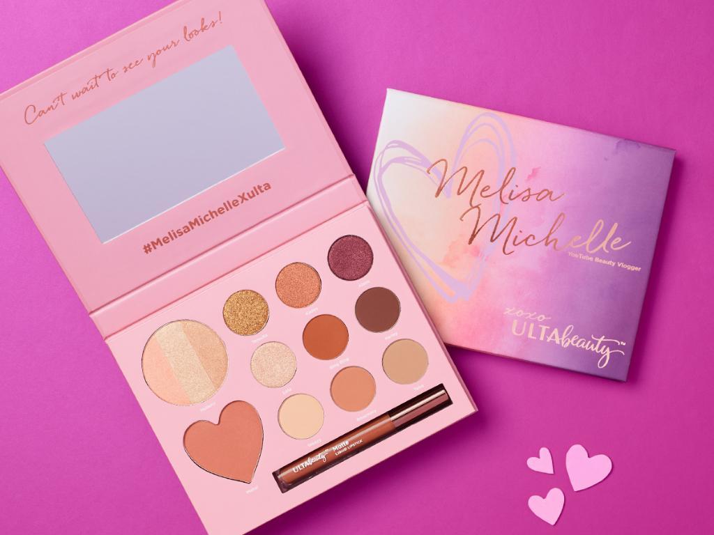 Melisa Michelle xoxo Ulta Beauty Palette พาเลททาตาอายแชโดว์บรอนเซอร์และกรอสในชุด