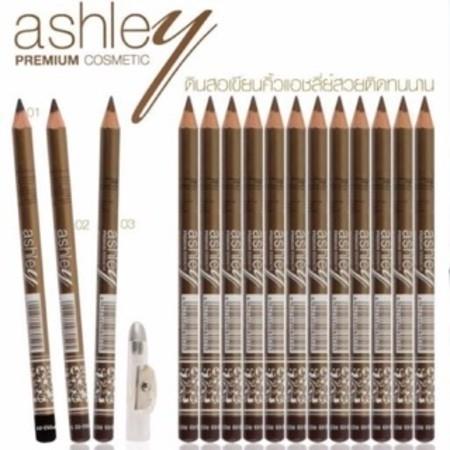 ดินสอเขียนคิ้วมีกบเหลา Ashley Premium Eyebrow Pencil waterproof ยกแพคโหล