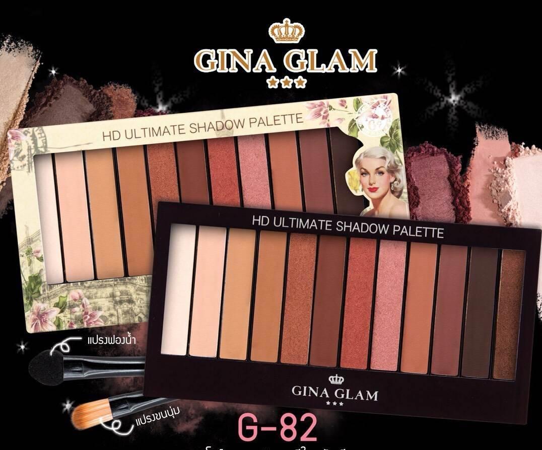 Gina glam HD ultimate shadow palette G-82  อายแชโดว์พาเลท 12 สี