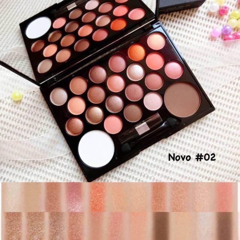 Novo 20+2 make up พาเรทแบรนแท้ ตลับใหญ่ สีสวย สีชัด ติดทน (เบอร์ 2 )