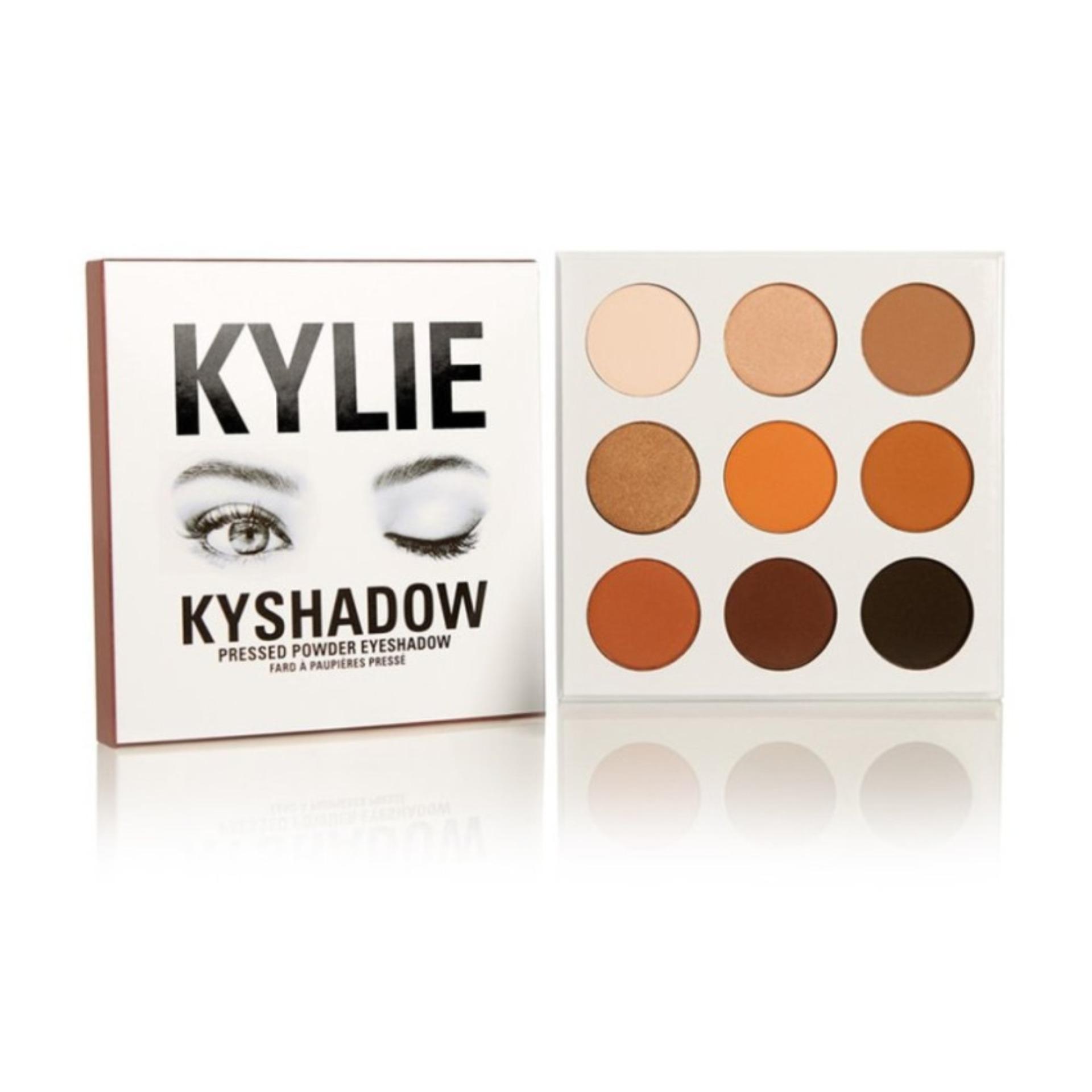 Kylie kyshadow press powder Eyeshadow Palette อายชาโดว์เนื้อฝุ่นสวยติดทนนาน เนื้อด้านสวย