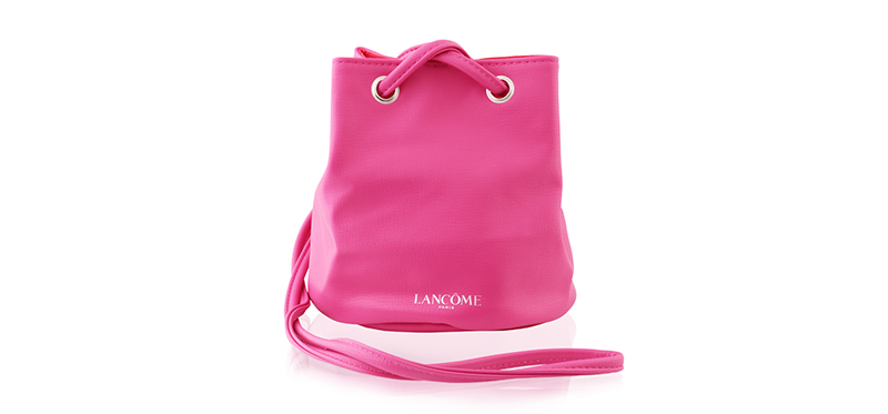 Lancome Bucket Leather Bag Pink กระเป๋าหนังสีชมพูทรงถัง น่ารักมากๆค่ะ ของแท้