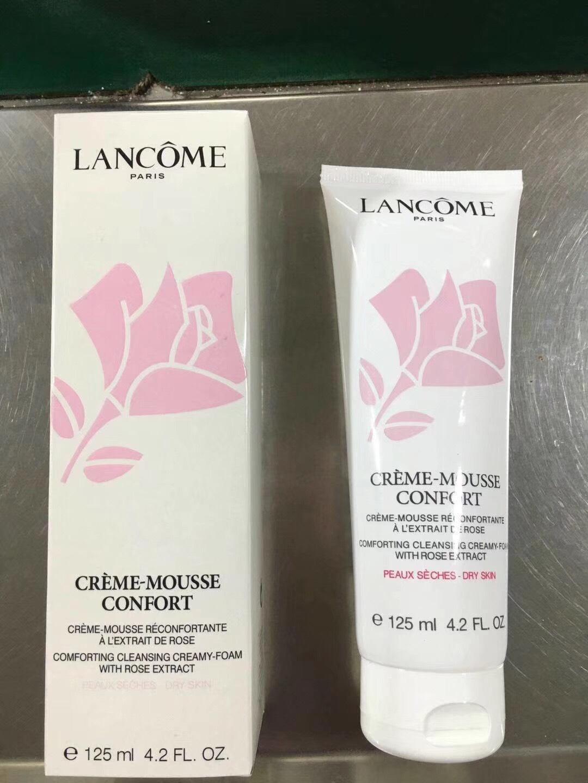 Lancome CREME-MOUSSE CONFORT 125ml. โฟมทำความสะอาดผิวหน้า สำหรับผิวแห้ง