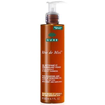 NUXE Reve De Miel Gel Nettoyant Visage 200ml.เจลกำจัดทำความสะอาดผิวสำหรับผิวแห้งและแพ้ง่าย