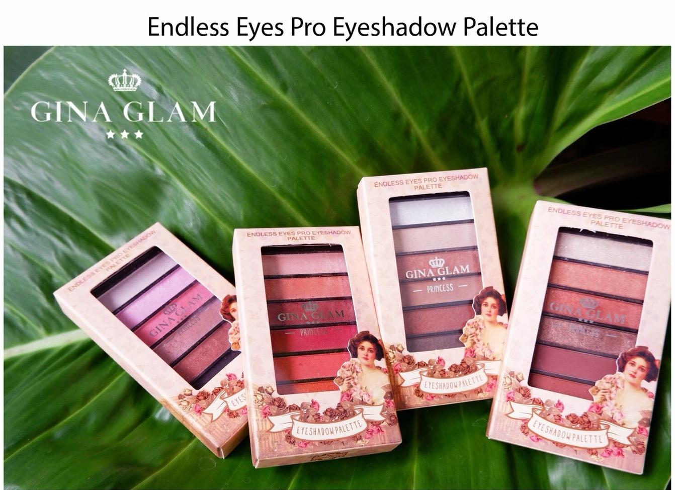 Gina glam endless eyes pro eyeshadow palette พาเลทอายแชโดว์ 6 สีสันพาเลทพกพาสะดวกสะดวก