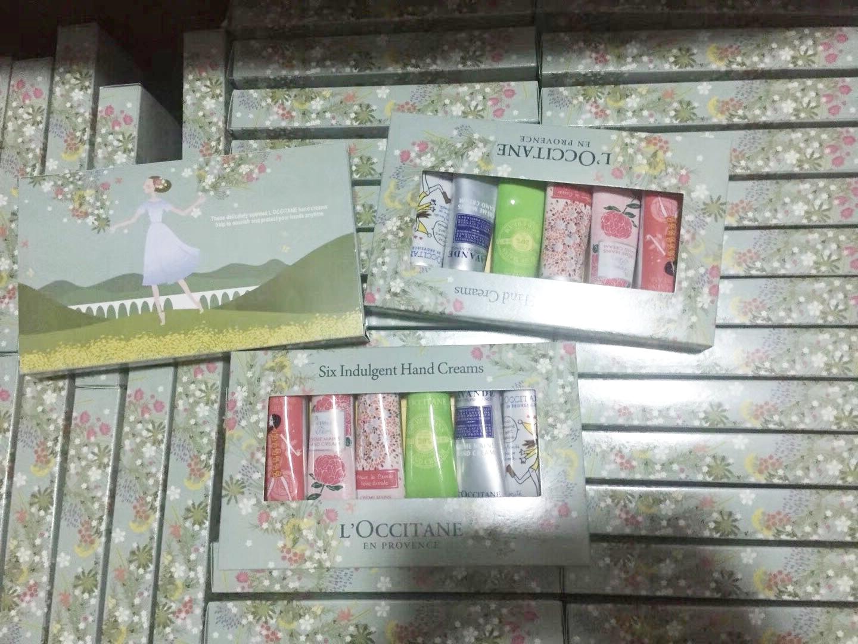 L\'occitane Six Indulgent Assorted hand cream gift box set 6pcs x 30ml.