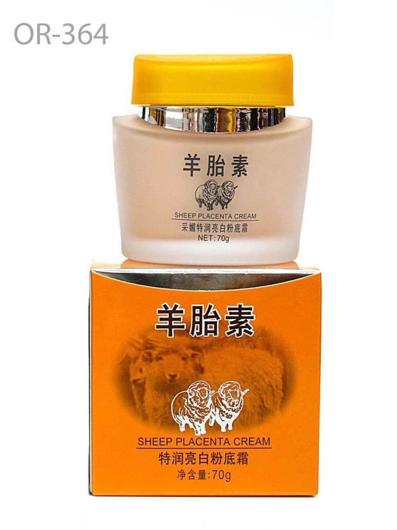 Caimei Sheep Placenta Orange - Whitening Foundation Cream 70ml. ครีมรองพื้นรกแกะสูตรไวท์เทนนิ่ง