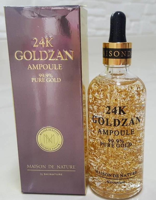 24K GOLDZAN AMPOULE PURE GOLD by skinature 100ml.รอบใหม่งานตามภาพเลยค่ะ ทองเยอะกล่องกระดาษมัน