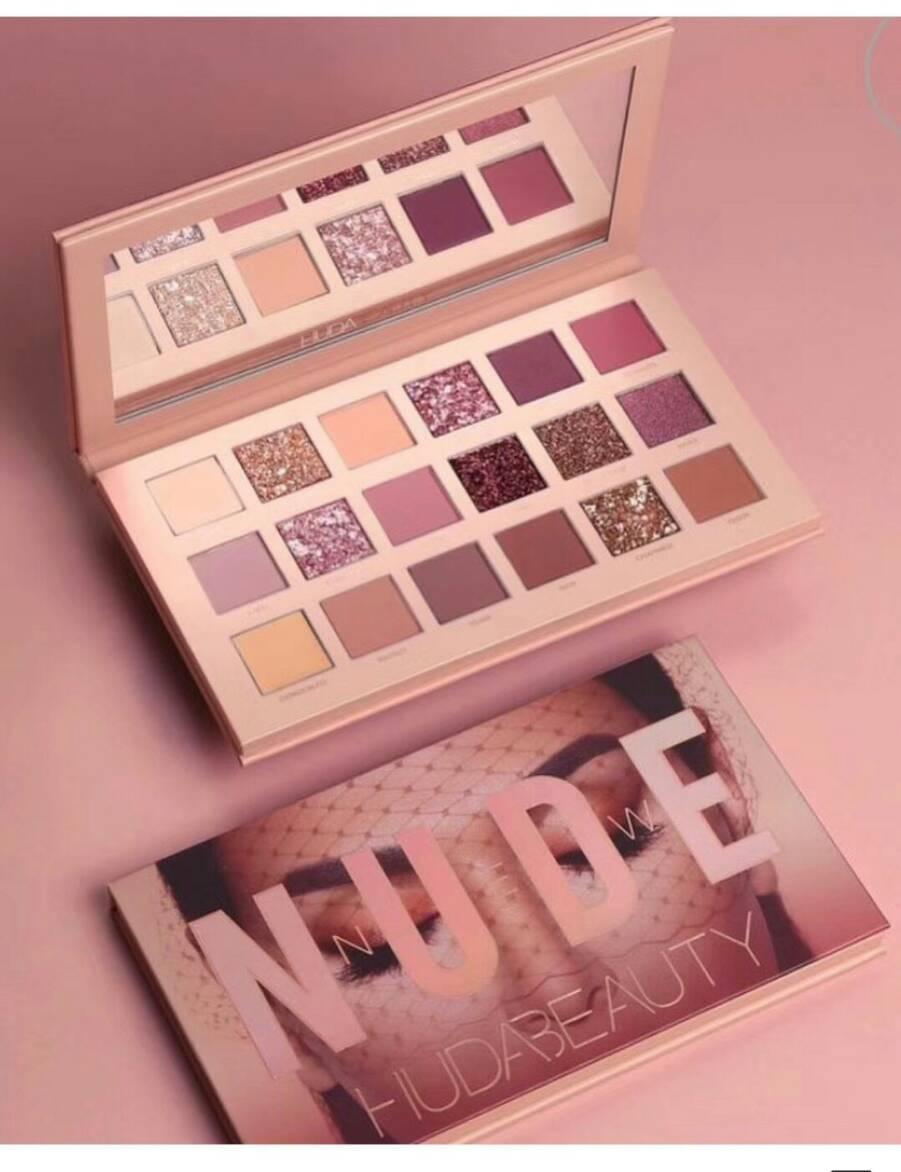 HUDA BEAUTY NUDE 18 Color Eyeshadow Palette   อายแชโดว์ 18 สีโทนนู้ดมาใหม่สวยมากๆ