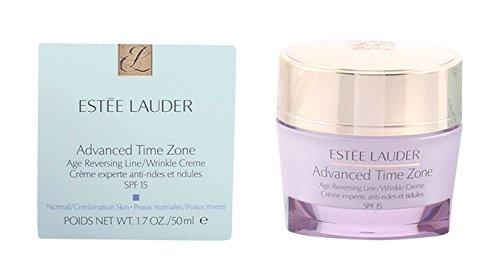 Estee lauder Advanced Time Zone Age Reversing Line/Wrinkle Crème SPF 15 50ml.บำรุงกลางวันกระปุกชมพู