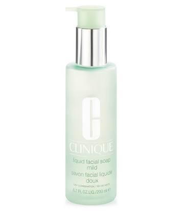 Clinique Liquid Facial Soap Mild 200ml. สบู่เหลวเนื้อเจลใส ทำความสะอาดผิวอย่างหมดจด