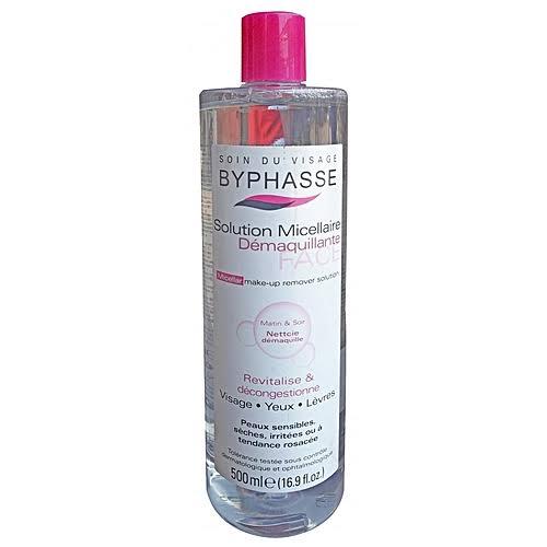 BYPHASSE Micellaire Make-up Remover Solution 500ml. ที่เช็ดเครื่องสำอางค์สูตรอ่นโยน