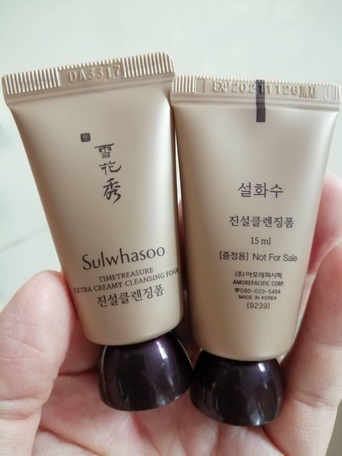 Sulwhasoo Timetreasure Extra Creamy Cleansing Foam 15ml.(ของแท้ขนาดทดลอง)