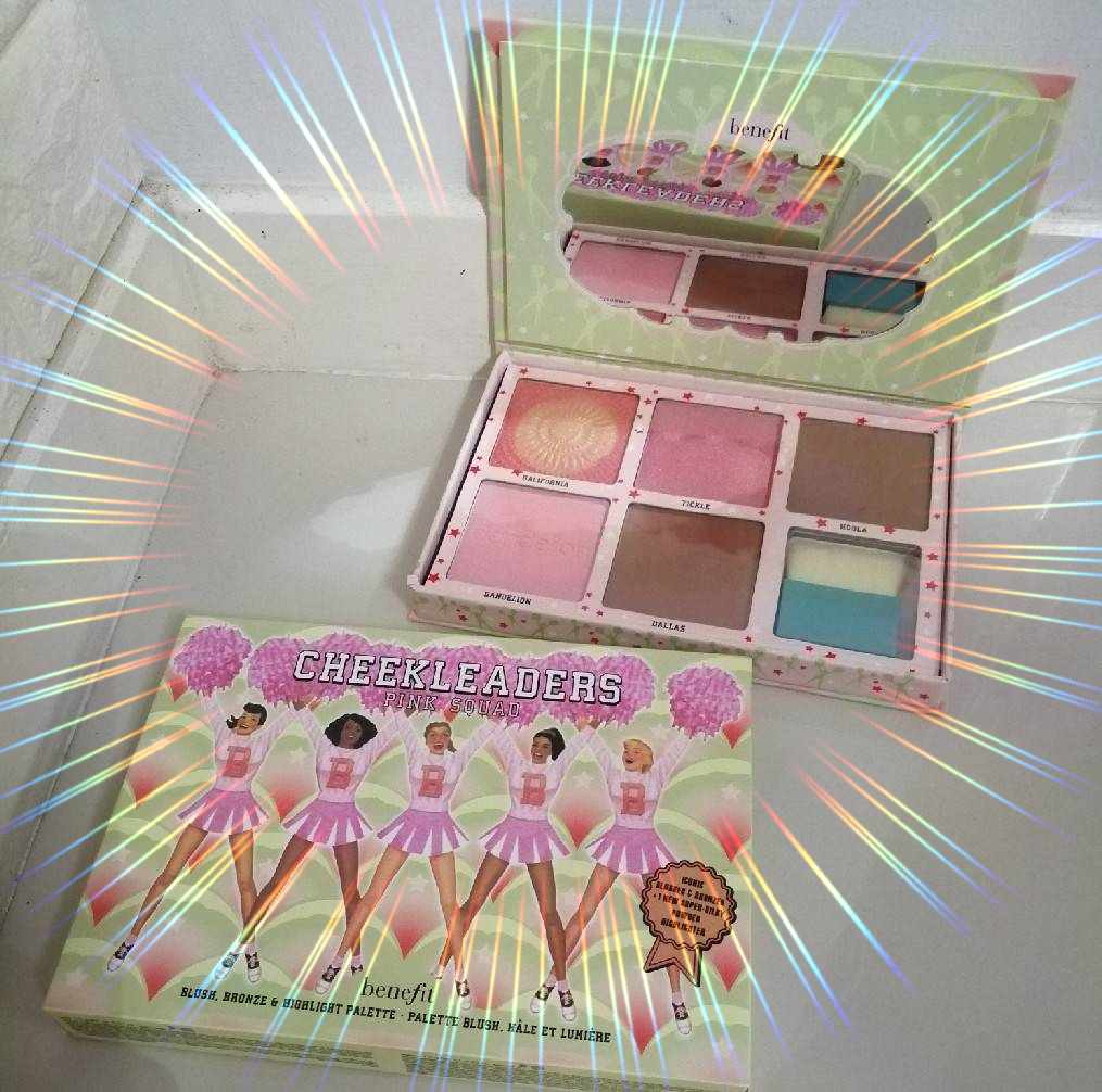 BENEFIT COSMETICS Cheekleaders Pink Squad Cheek Heaven Kit พาเลทบลัชออนบรอนเซอร์คอนทัว 6 สีสัน