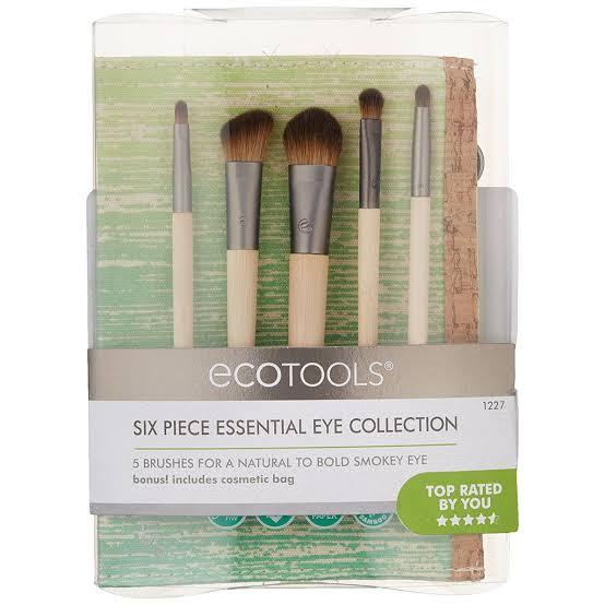 EcoTools 6 Piece Essential Eye Brush Setเซตแปรงแต่งตา 5 ชิ้น+กระเป๋า เก็บแปรงขนาดกะทัดรัด