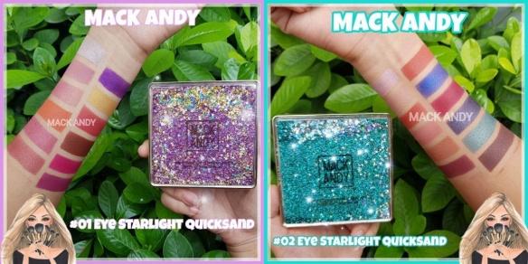 Mack andy eye starlight quicksand palette ของแท้กากเพรชเคลื่อนไหวได้หรูมั่กๆ 1