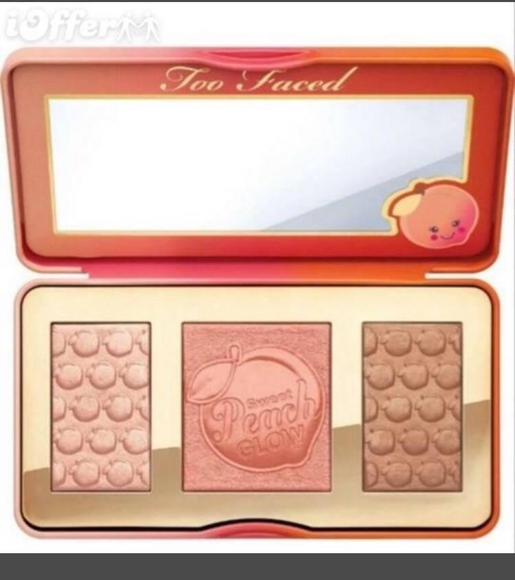 The Too Faced Sweet Peach Glow Palette พาเลทไฮไลท์ปัดแก้มกลิ่นหอมพีชสุดๆงานดีเยี่ยม