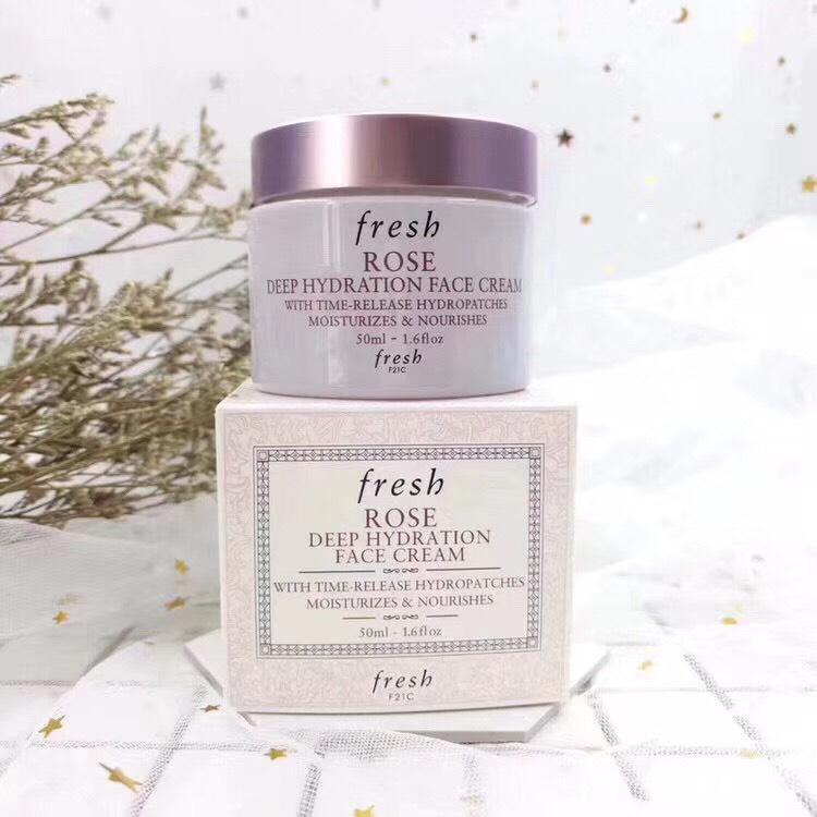Fresh Rose Deep Hydration Face Cream 50ml. ช่วยโอบอุ้มความชุ่มชื้นเสมือนกักเก็บน้ำไว้ใต้ผิว