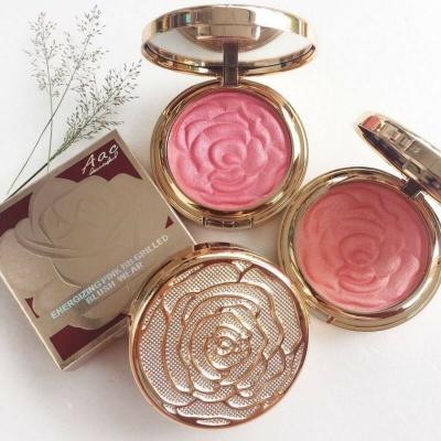 บรัชออน Aac Energizing pink bb gilled Blush wear ในตลับเนื้อลายกุหลาบสีสวยแสนหวาน