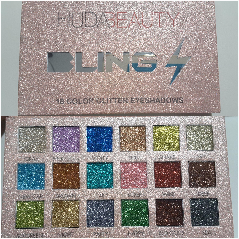 อายแชโดว์ HUDA Bling Eyeshadow Palette (18 highly shades) พาเลท ทาตา อายชาโดว์กาก Eyeshadow 18 เฉดสี