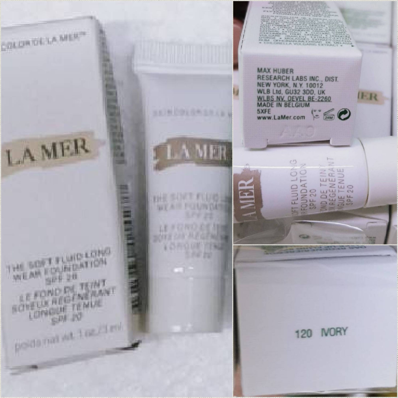 LA MER รองพื้น The Soft Fluid Long Wear Foundation SPF 20 ขนาดทดลอง 3 ml. มี 2 เบอร์ให้เลือก
