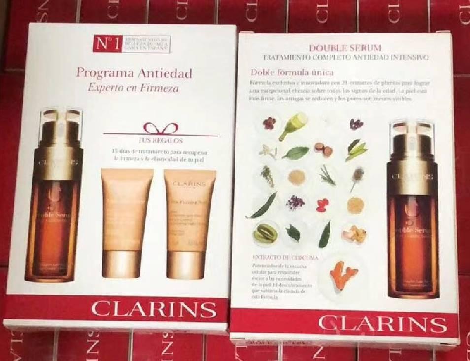 Clarins Double Serum  Extra-Firming Collection set บำรุงผิว 3ชิ้น จาก clarins