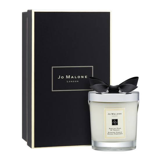 JO MALONE LONDON English Pear  Freesia Home Candle 200G. เทียนหอมในโหลแก้วสวยเรียบหรู (มีถุงแถม)