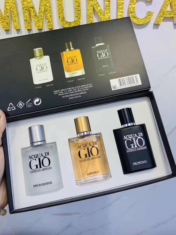 Giorgio Armani Acqua Di Gio 3 PCS travel Collection น้ำหอมเทสเตอร์หัวสเปรย์ 30ml.*3 ชิ้น