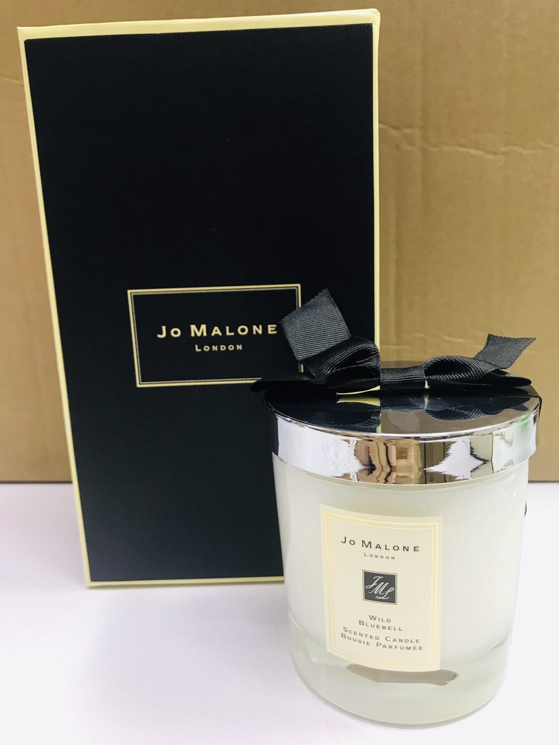 JO MALONE LONDON Wild Bluebell Home Candle 200G. เทียนหอมในโหลแก้วสวยเรียบหรู (มีถุงแถม)