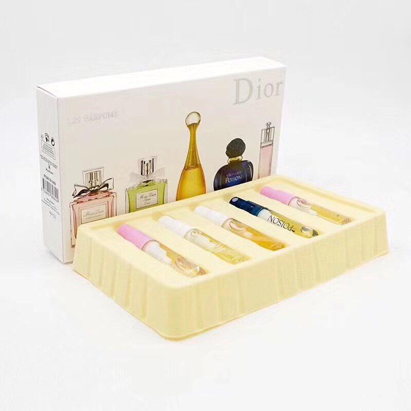 น้ำหอมเทสเตอร์เซต Dior - Les Parfums Set  แพคเกจแบบหลอดขนาด 5ml. x5 (ขวดสเปรย์) กล่องหนา