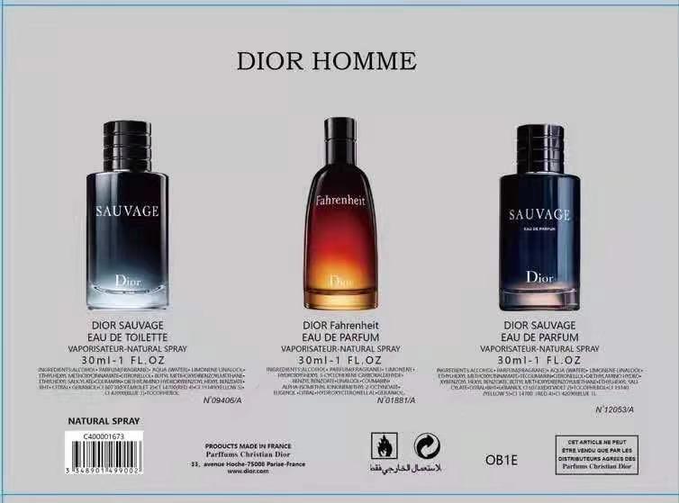 น้ำหอมผู้ชายขนาดทดลอง Dior Homme for men tester  30ml.×3pcs (หัวสเปรย์) 3 แบบ