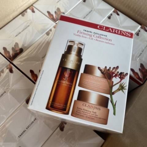 Clarins Double Serum  Extra-Firming Collection set บำรุงผิว 3ชิ้น จาก clarins full size