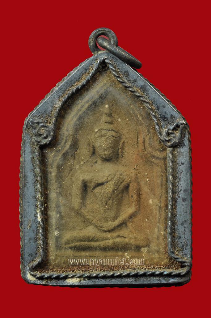 พระขุนแผนพิมพ์ใหญ่ เลี่ยมเงินเก่า อ.ชุม ไชยคีรี วัดพระบรมธาตุ ปี 2497 (จองแล้ว)