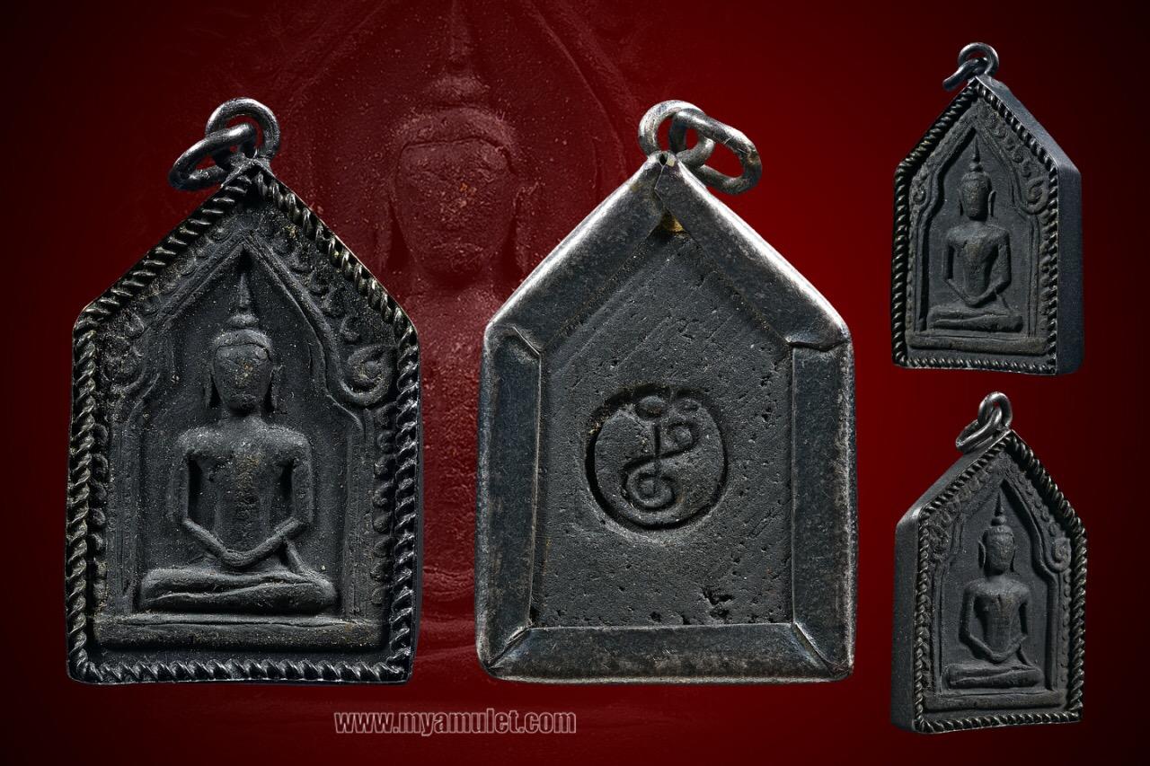 พระขุนแผนพิมพ์ใหญ่ อ.ชุม ไชยคีรี วัดพระบรมธาตุ ปี 2497 เลี่ยมเงินเก่า (จองแล้ว)