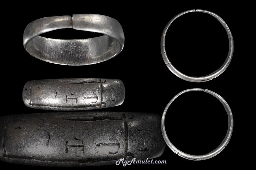 แหวนมงคล มหาอุตม์ มหาอำนาจ เนื้อเงินลงถม อาจารย์ชุม ไชยคีรี ปี 2497