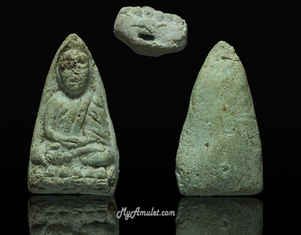 พระหลวงปู่ทวด พิมพ์เล็ก วัดประสาทฯ ปี 2506 เนื้อขาวอมเขียว