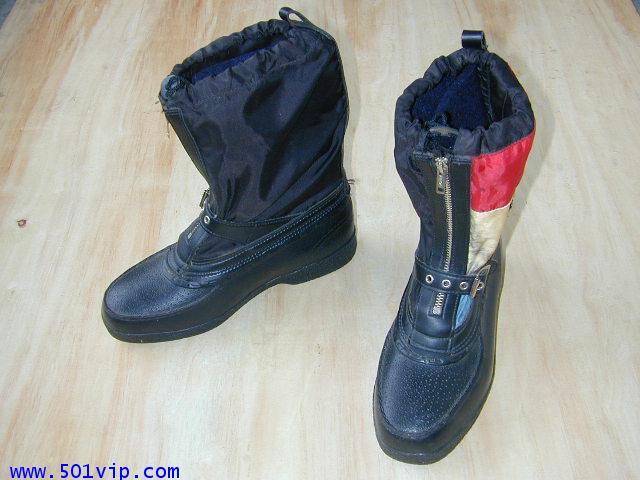 เหมือนใหม่ boot ยาง Harley Davidson สีดำ USA ปี 1980 size 7 us หรือ 41 eu