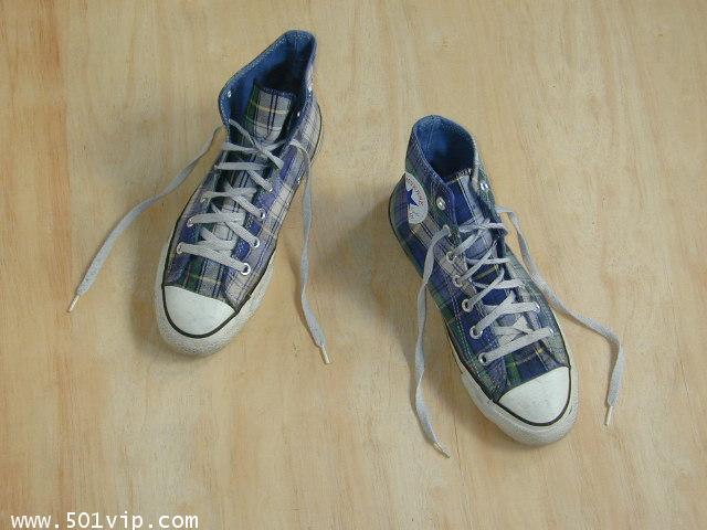 Used Converse ลาย สก๊อต made in USA เบอร 6