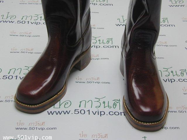 New boot levis หนังแก้ว made in USA ปี 1980 ไซส US 7 หรือ EUR 40 1