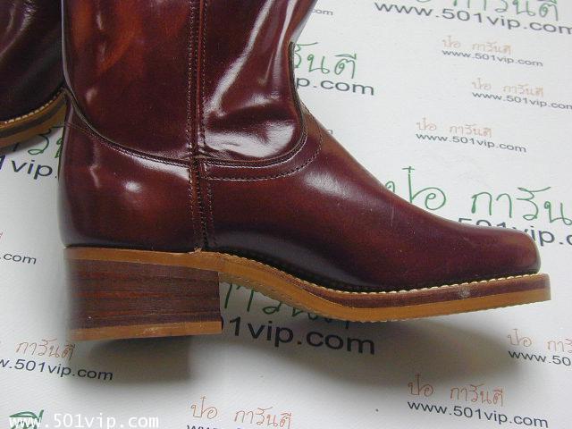 New boot levis หนังแก้ว made in USA ปี 1980 ไซส US 7 หรือ EUR 40 3