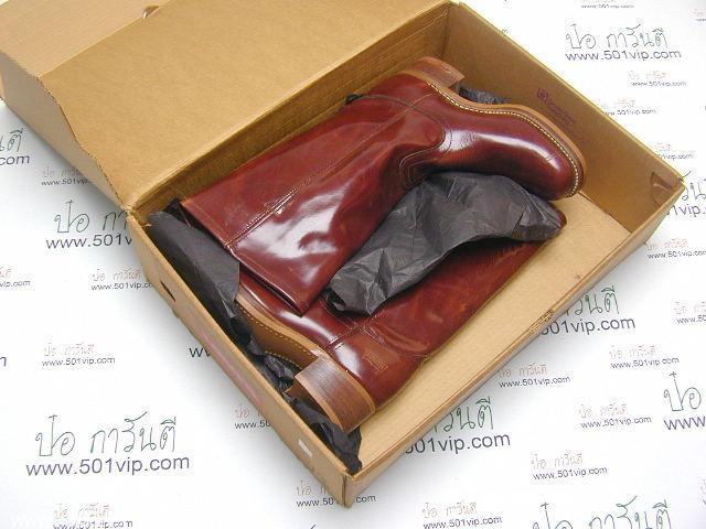 New boot levis หนังแก้ว made in USA ปี 1980 ไซส US 7 หรือ EUR 40 8