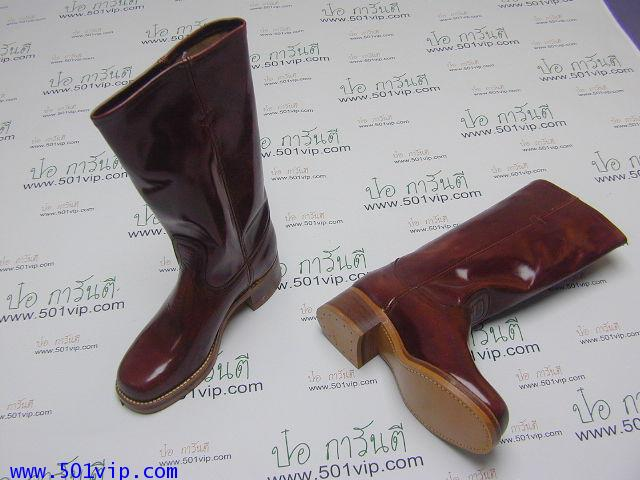 New boot levis หนังแก้ว made in USA ปี 1980 ไซส US 7 หรือ EUR 40