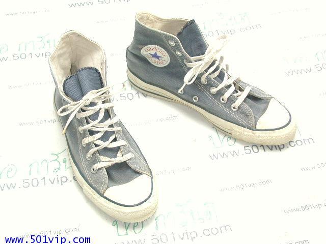 Used Converse สี น้ำเงิน made in USA ปี 1990 เบอร 8 .5