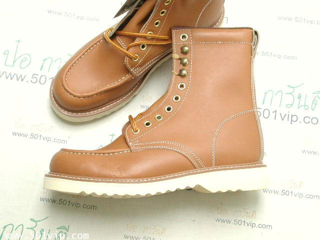 New Roebucks Spice tan boot หนัง made in China ปี 2000 size 8 .5 2