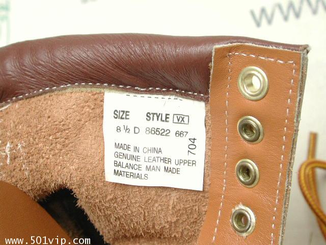 New Roebucks Spice tan boot หนัง made in China ปี 2000 size 8 .5 3