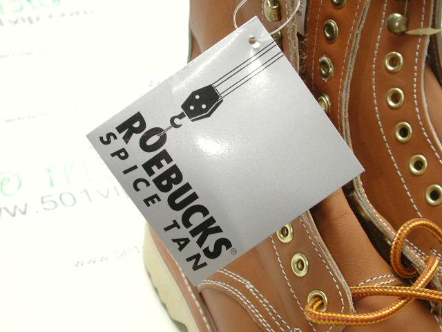 New Roebucks Spice tan boot หนัง made in China ปี 2000 size 8 .5 7