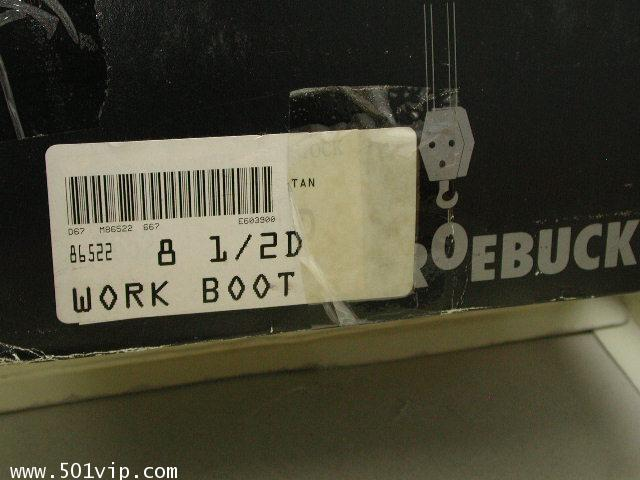 New Roebucks Spice tan boot หนัง made in China ปี 2000 size 8 .5 8
